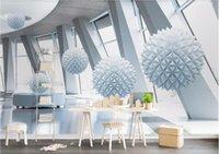 imagem dimensional venda por atacado-3d papel de parede personalizado foto mural 3d dimensional globo arquitetura moderna espaço tv fundo parede home decor wall art pictures