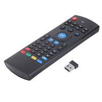 combos clavier souris minces achat en gros de-T3 MX3 Fly Air Mouse Mini Clavier Sans Fil avec Télécommande T3M pour Android TV Box Media Player Clavier Russe Option