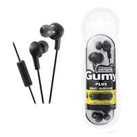 гумминый микрофон для наушников оптовых-Новые Gumy Gummy Наушники-вкладыши 3,5 мм для наушников HA-FR6 Gumy Plus с микрофоном