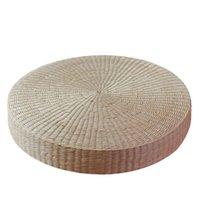 antike wohnzimmer möbel-sets großhandel-Handgefertigtes umweltfreundliches atmungsaktives gepolstertes Sitzkissen aus gestricktem Strohhalm Futon-Hocker Ottoman-Tatami-Stärke 6 cm