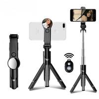 зеркальный монопод оптовых-Bluetooth Selfie Stick мини-штатив выдвижной монопод с зеркалом для iPhone для Android для Samsung