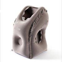 надувная подушка для путешествий оптовых-Подушка для путешествий надувные подушки воздушная мягкая подушка trip portable innovative products body back support складная подушка для шеи