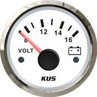medidores de generador al por mayor-Gasolina Motor diesel Generador de voltaje Medidor KUS Auto Barco 52 mm Voltímetro Medidor 8-16 V Pantalla