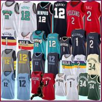 media xl al por mayor-12 Ja Morant Lonzo 2 Bola 9 RJ Barrett baloncesto de los jerseys S-XXL de la NCAA 1 Zion Williamson universitarios jerseys del baloncesto de 2019 2020