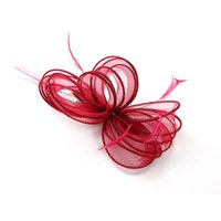 цветочные шпильки ручной работы оптовых-New Woman Lady Girls Fascinator Hair Clips Handmade Feather Flower Hairpins Wedding Decoration Party Headwear Hair Accessories