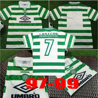 Wholesale Celtic retro soccer jerseys HOME GREEN Vintage football shirts LAARSSON BRATTBAKK JOHNSON WIEGHORST BURLEY BLINKER McNAMARA