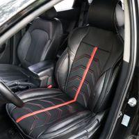 capas de assento preto vermelho para carros venda por atacado-Uma peça de Automóveis Assento preto vermelho Cobre Cobertura de Assento Do Carro Universal Universal Acessórios Interiores Universal para todas as estações
