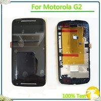 quadro moto g2 venda por atacado-100% testado para moto g2 display lcd com tela de toque digitador assembléia com frame para motorola moto g2 xt1063 xt1064 xt1068 ypf27-134