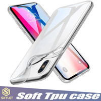 iphone için kristal berraklık kılıfı toptan satış-Yumuşak TPU Temizle Vaka Galaxy S10 A20E A70 Için iPhone Huawei P30 pro 1.0 MM Kalınlığı Şeffaf şeffaf Yumuşak Kılıf Halıları Kristal Arka Kapak