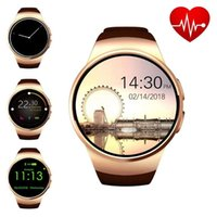 Wholesale samsung gear s2 resale online - KW18 Bluetooh Smart Watch Heart Rate Monitor Support SIM TF Card Smartwatch for iPhone Samsung Huawei Gear S2 Android Smartwatch free shipp