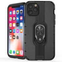 doble armadura al por mayor-Funda para teléfono Heavy Duty a prueba de golpes de doble capa Fundas de armadura resistente Funda para anillo para iPhone 11 Pro Max XS XR Samsung Note 10Plus