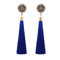 Wholesale star jewellery for sale - Fashion Long Tassel Earrings Crystal Flower Five Star Tassel Earring Long Dangle Fringe Boho Earrings For Women Jewellery