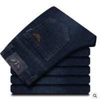 pantalones vaqueros de diseño caliente hombres al por mayor-Hot Sale Mens Designer Jeans pantalones elásticos delgados delgados pantalones rectos de los hombres Slim Cowboy Famous jeans clásicos 67896