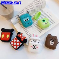 Wholesale toy apples for sale - Group buy Bestsin Cute DIY Silicone Case For Apple Airpods Accessories Special D Animal Soft Case Cover with Anti lost Strap Decoration Gifts Toy