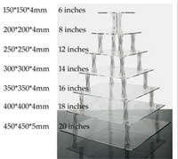 Wholesale cupcake stands for sale - Group buy Details about Tiered Square Acrylic Cake Stand Stunning Use Or Tiers Cupcakes