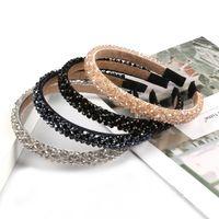 saç elmas şeritler toptan satış-Kadınlar Kristal Bantlar Şapkalar için Kız Parlak Lüks Rhinestone Saç Bandı Elmas Saç Hoop Aksesuarları