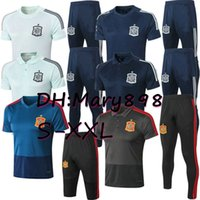 Wholesale quality best jerseys for sale - Group buy Best quality Spain Training suit soccer Jersey MORATA ASENSIO RAMOS ISCO SILVA PIQUE A INIESTA football shirts sets