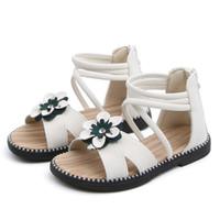 ingrosso scarpe da principessa verde-Sandali dei bambini di modo verde bianco, scarpe per bambini, contro i sandali romani, Flower Girl Princess Beach Shoes Sandali per bambini per le ragazze