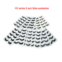 Wholesale stage eyelashes for sale - Group buy NEW HVseries style pairs Handmade d mink lashes short False Eyelashes Cross Messy Dense Natural Eye Lashes Stage Makeup False Eyelashes