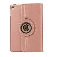 Wholesale 9.7 tablets for sale for sale – best 2019 hot sale color for Ipad case Litchi grain PU leather tablet case rotating flip stand for Ipad case