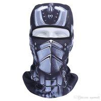 ingrosso cappe di motocicletta-Maschere 3D sport esterni della bicicletta del motociclo del cappuccio del pattino Mask cappello di velo Balaclava UV Full Face