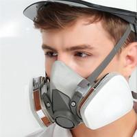 ingrosso vapore organico-Fronte mezzo Maschera antigas Organic Vapor protezione filtro a carbone di respiratore con cartuccia per verniciatura a spruzzo proteggere Chemical Industrial Guardia