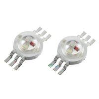 yüksek güçlü rgb spot ışığı toptan satış-High Power LED Chip 20MM Alüminyum Yüzey Spotlight LED Lamba Boncuk Diyot 3W Kırmızı Yeşil Mavi