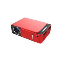 für kino großhandel-T6 HD LED Projektor 1280x720p LCD Mini Projektoren unterstützen SD HDMI USB für Heimkino VGA Projektor