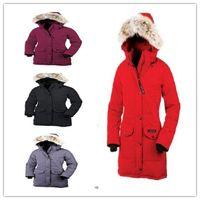 8feec8eb46d2 ganso rojo al por mayor-Envío gratis Chaqueta de pluma de invierno Ganso  canadiense Hembra