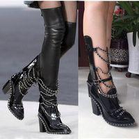 Kaufen Sie im Großhandel Oberschenkel Stiefel Leder