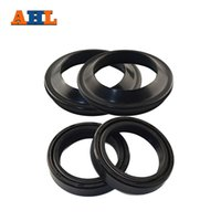 Wholesale yamaha oil resale online - AHL Motorcycle Front Fork Dust and Oil Seal for CB750 Yamaha RZ350 RM125 EX250F Ninja R