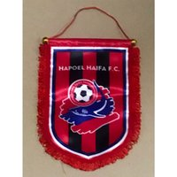 Wholesale israel flags resale online - Flag of Israel Hapoel Haifa FC Handing flag cm cm Size Decoration flag banner for home garden Festive