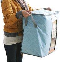ingrosso abbigliamento di bambù-Qualify Storage Bag Box Organizer portatile Non tessuto Underbed Pouch Storage Box Bamboo Abbigliamento Storaging Bag per il trasporto di goccia