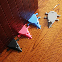 Wholesale cute door stoppers resale online - New Cute Cartoon Mouse Shape Door Stopper Silicon Doorstop Safety For Baby Home Decoration Colors Hot Sale