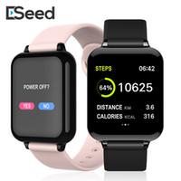 tensión de la pulsera al por mayor-SmartWatch de tensión inteligentes reloj ESEED B57 Mujeres rastreador de ejercicios monitor de ritmo cardíaco Sangre pulsera inteligente Hombres Para Android iOS IPHONE RELOJ