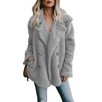 ingrosso cappotti di lana britannica-Lapel Neck monopetto Womens cappotti di inverno morbido misto lana Cappotti Top 11 donne di colori allentato britannico coats Capispalla Solid Colore
