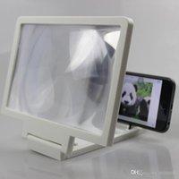 усилители оптовых-Экранная лупа Усилитель фильмов 3D 3-кратный зум Увеличенная подставка для телефона Экран Усилитель видео Усилитель радиации
