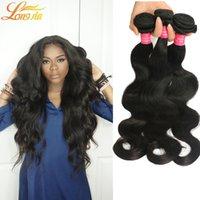 Wholesale ali human hair for sale - Group buy 7A Grade Brazilian Virgin Hair Body Wave Bundles Ali Queen Brazilian Virgin Hair Human Hair Unprocessed Natural Color Brazilian Body Wave