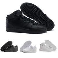 neue hoch geschnittene schuhe großhandel-Nike air max force fly Neue Ankunft ein 1 Dunk Running Schuhe alle schwarz weiß Männer Frauen Sport Skateboarding Ones High Low Cut Weizenbraun Trainer Turnschuhe