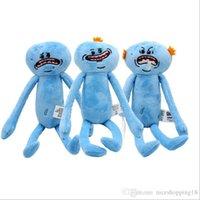 satılık büyük bebekler toptan satış-Büyük satış 25 CM T479 Rick ve Morty mutlu ve üzgün Meeseeks bebek peluş oyuncaklar çocuk karikatür karikatür oyuncaklar hediyeler ucuz üreticileri toptan