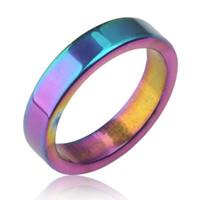 anillo de código al por mayor-Anillo magnético anillo multicolor pareja anillo magnético joyería hombres y mujeres código de dedo