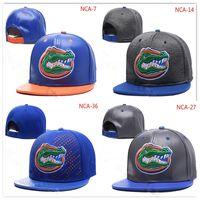 blaues orange hysteresen großhandel-NCAA Florida Gators Snapback Caps Schwarz Rot Grau Königsblau Weißgold Florida Gators Strickmütze Beanies Caps Einheitsgröße