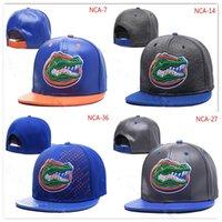 siyah gri snapback toptan satış-NCAA Florida Gators Snapback Kapaklar Siyah kırmızı gri Kraliyet Mavi beyaz Altın Florida Gators Örgü Şapka kasketleri Bir boy ...