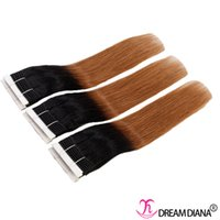 Wholesale diana weaves resale online - Ombre Virgin Hair Extensions Straight Brazilian Human Hair Bundles b Human Hair Weave or Bundles Dream Diana