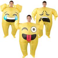 aufblasbare puppen für erwachsene großhandel-Erwachsene Weihnachten Halloween Party Aufblasbare Anzug Cosplay Kleidung Emoticon Cartoon Puppen Aufblasbare Spielzeuge Erwachsene Cos Kostüme