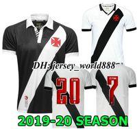 xl maxi camisas venda por atacado-MAXI 19 20 Vasco da Gama Camisas De Futebol manga Comprida A.RIOS PAULINHO FABIANO MURIQ 2019 2020 clube Brasil Home Estrada Camisa de Futebol Preto Branco