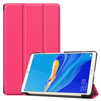 Wholesale cases huawei mediapad tablet for sale - Group buy Tri folding PU Leather Case Smart Cover with Auto Sleep Wake UP for Huawei Mediapad M6 Inch Tablet
