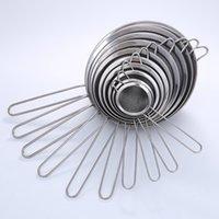 colador fino al por mayor-De acero inoxidable de malla fina Colador Colador Tamizar la harina con el jugo de la manija y tamiz del té de utensilios de cocina ZZA1607-4