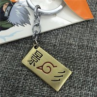 llaveros japon al por mayor-Japón moda Anime Naruto llavero plata Fairy Tail llaveros estrella ronda tanques llavero para hombre Unisex llaveros joyería para hombre