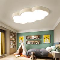 plafón colorido al por mayor-Nube LED Luces de techo de hierro Luminaria de pantalla Lámpara de techo niños Bebé niños dormitorio accesorios de iluminación Luz de iluminación colorida